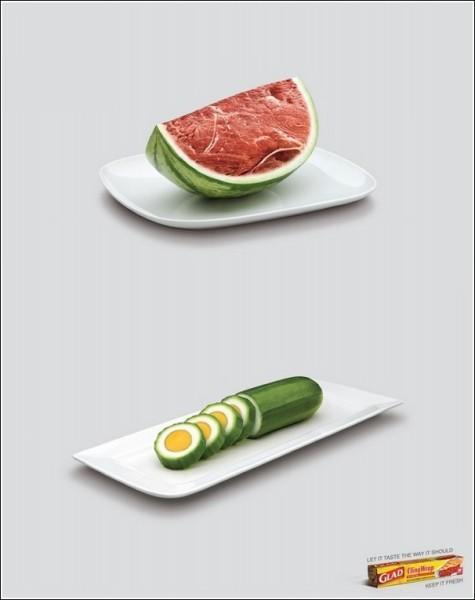 Гибриды не пройдут: интересная реклама пищевой пленки