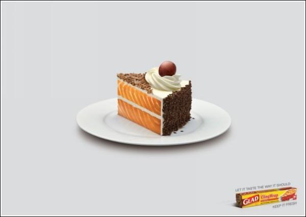 Гибриды рыбы и торта не пройдут: интересная реклама пищевой пленки