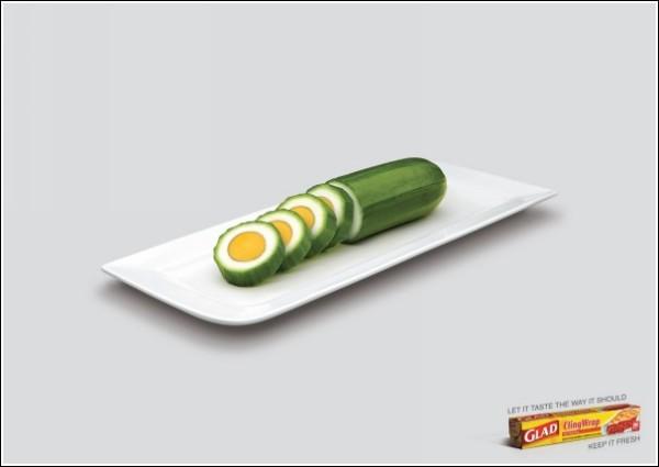 Гибриды яйца и огурца не пройдут: интересная реклама пищевой пленки