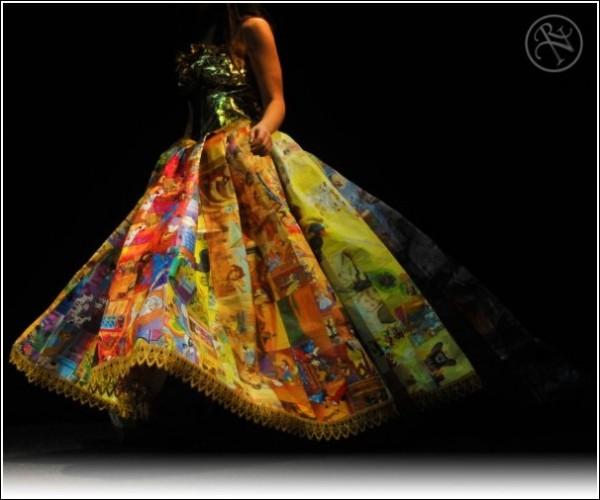 Книжное вечернее платье: наряд из сказки