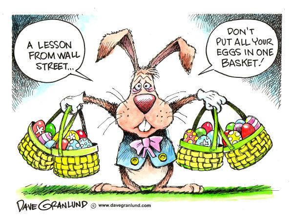 Пасхальный эконом: карикатура на тему финансовых вложений