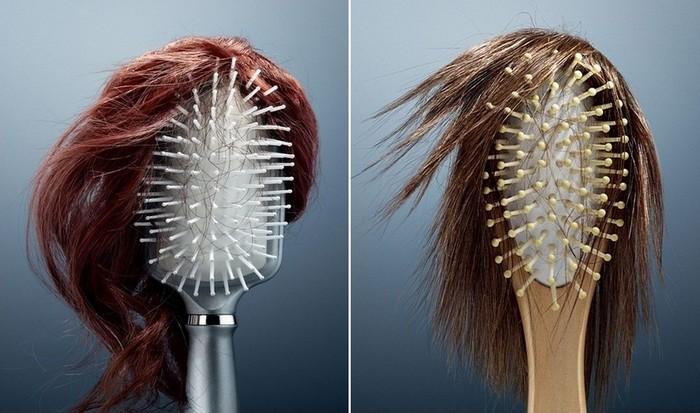 Мы теряем - щетки собирают: реклама средства против выпадения волос
