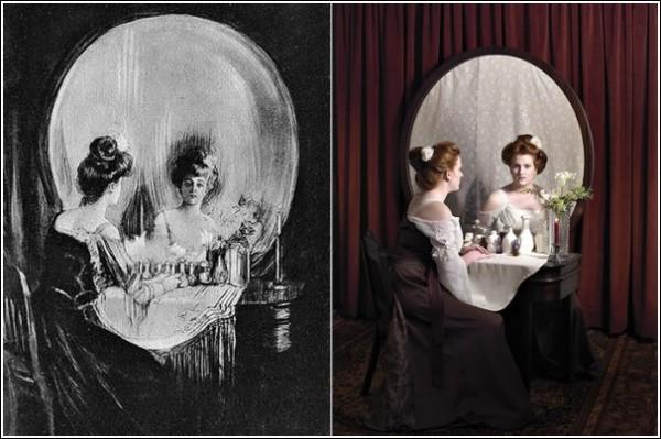 Слева - оригинал Гилберта, справа - инсталляция Ханны