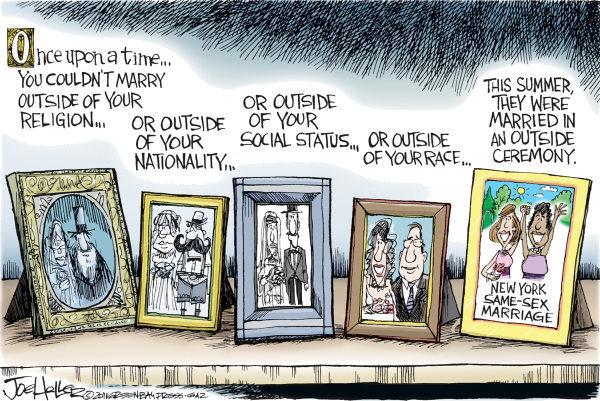 Художники-карикатуристы о легализации однополых браков: галерея портретов