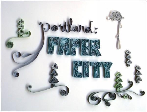 Выставка произведений бумажного искусства Portland Paper City