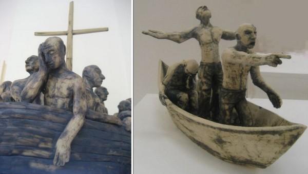 Керамические работы Роджера Уайтейкера: «Дрейф», «Надежда, вера и отчаяние»