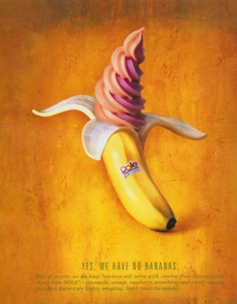 Креативные фотографии еды Нира Адара: мороженый банан