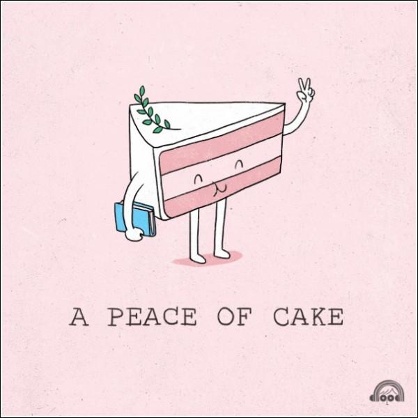 Пирог-пацифист: piece - кусок, peace - мир