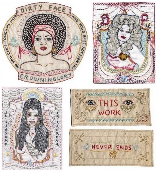 Картины с иголочки: вышитые портреты Дженни Харт