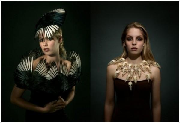 Мода на убитых енотов: необычные наряды и украшения Джесс Итон