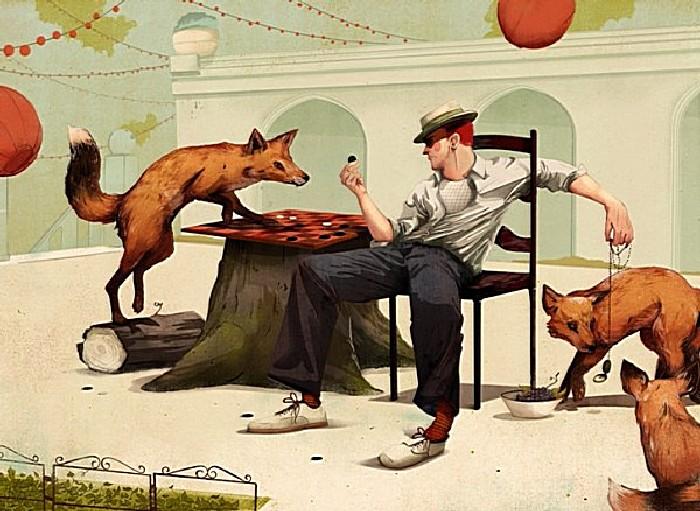 Давненько не брал я в руки шашек: серия рисунков Джонатана Бартлета