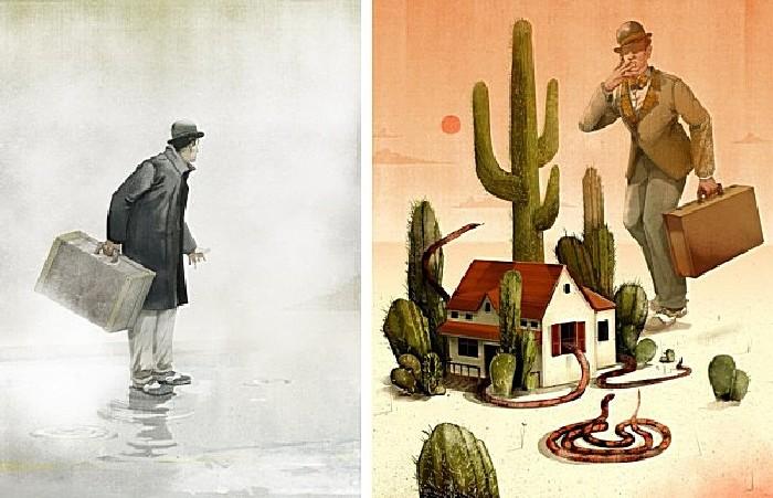 Змеюшник: серия рисунков Джонатана Бартлета в стиле 50-х