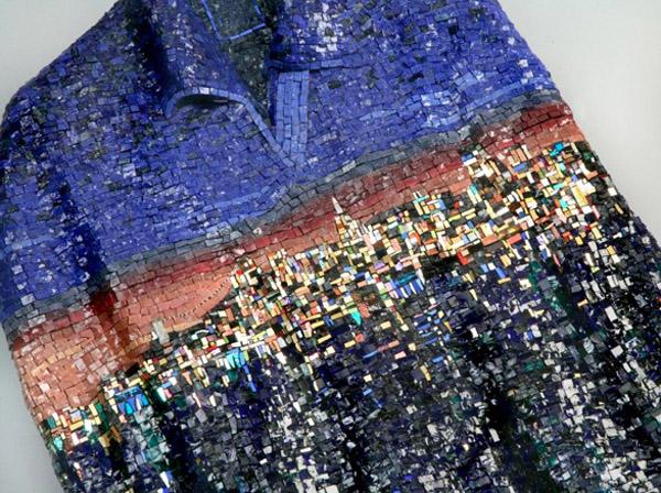 Наряды из смальты и мрамора: вечернее платье