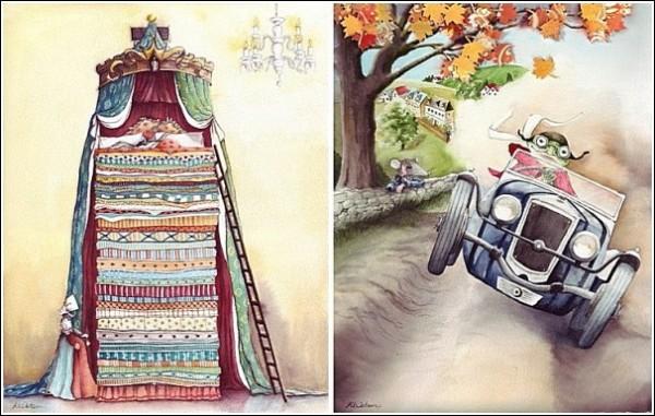 Принцесса на горошине и другие: иллюстрации к книгам Карен Уотсон