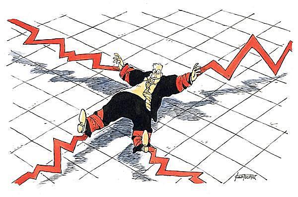 Американские горки имени Доу-Джонса: зарубежные карикатуристы об обвале на биржах