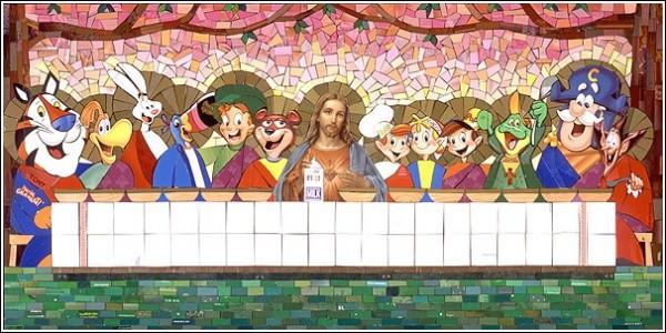 Мозаичные картины Майкла Свира: *Тайная утреня*