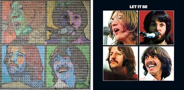 Обложка альбома «Битлз» «Let It Be»: вариант Питера Мейсона и оригинал
