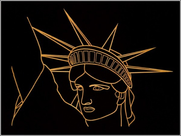 Картины Стивена Бекмена из зубочисток: статуя Свободы