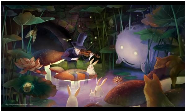 Цифровая живопись Мелани Си: «Колыбельная»