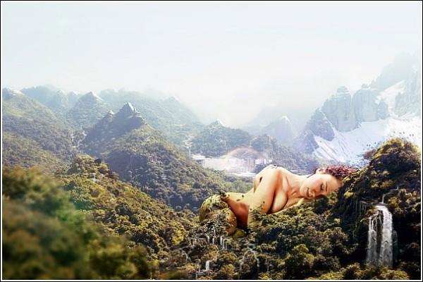 Мать-Природа: цифровая живопись Ника Эйнли