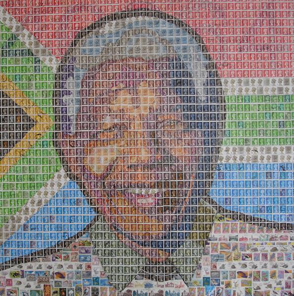 Портрет Нельсона Манделы