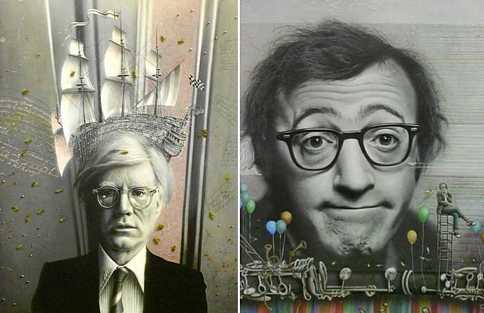 Знакомые все лица в стиле поп-арт и не только: картины Марио Сории