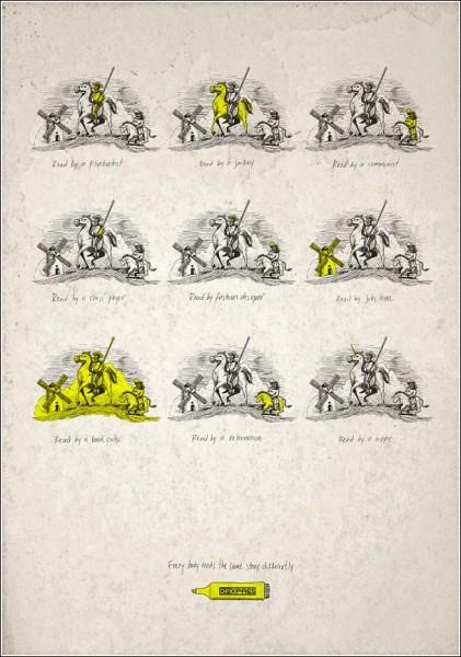 «Дон Кихот» глазами хиппи: оригинальная реклама маркеров