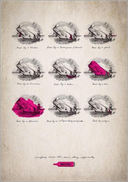 «Моби Дик» глазами антиквара: оригинальная реклама маркеров