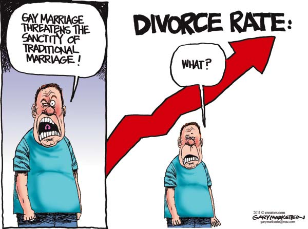 from Tomas what are the divorce rates for heterosexual and gay couples