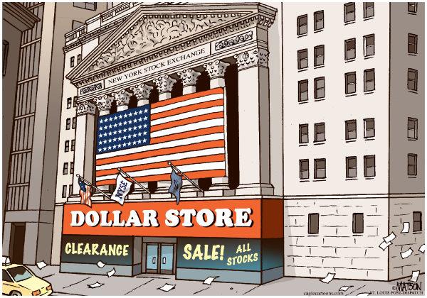 Американские горки имени Доу-Джонса: большая распродажа