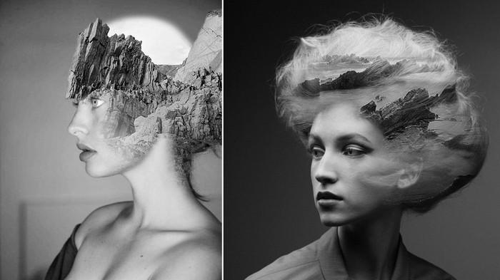 Люди-горы, люди-скалы: фотоманипуляции Мэтта Висневского