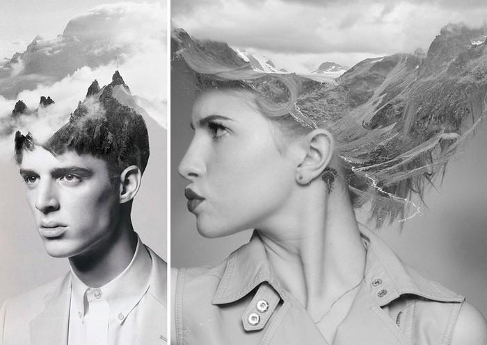Целый пейзаж в голове: стихия и человек в фотоманипуляциях Мэтта Висневского