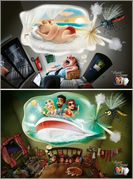 Комар носа не подточит: забавная реклама средства против комаров