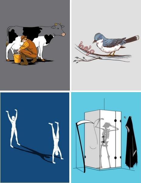 Искусство футболочного принта: юмористические рисунки Чоу Хон Лэма