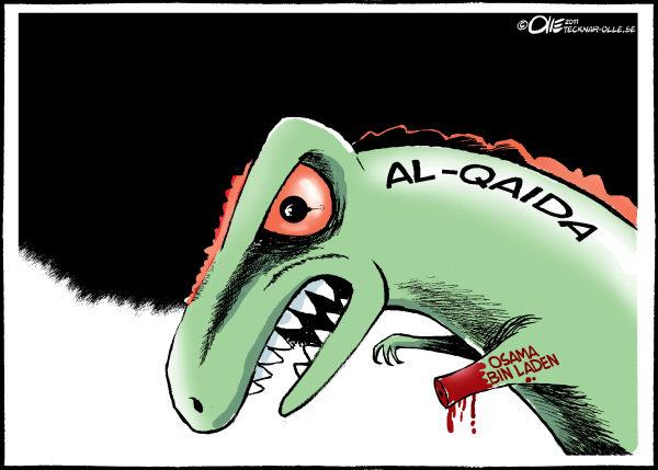 Политические карикатуры на смерть Усамы бин Ладена: без Усамы как без лап