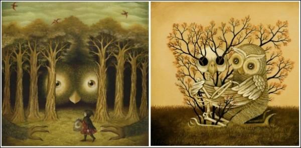 Будущая художница в детстве обожала лес и его обитателей