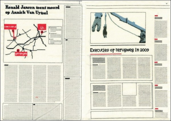 Непечатное издание - вышитая газета «Гобелен»