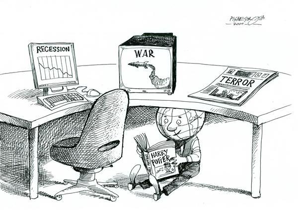 Гарри Поттер и художники-карикатуристы: человечество зачиталось