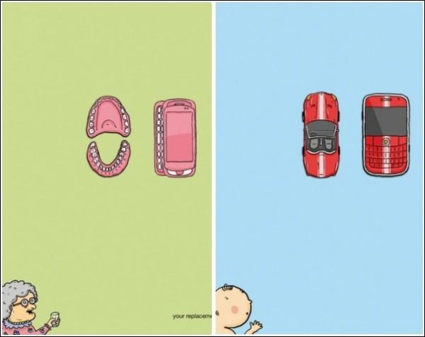 Смотри не перепутай: остроумная реклама мобильных телефонов