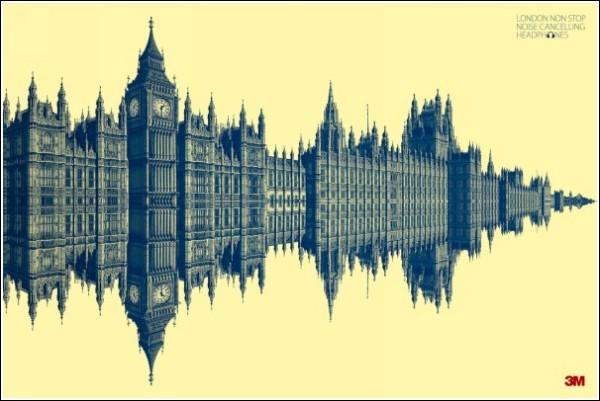 Оригинальная реклама наушников: Лондон
