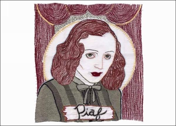 Картины с иголочки: вышитый портрет Эдит Пиаф