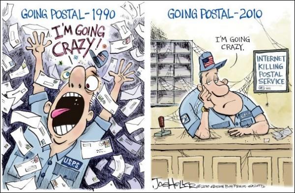 Карикатуры на тему почты в век Интернета: от чего люди сходят с ума?