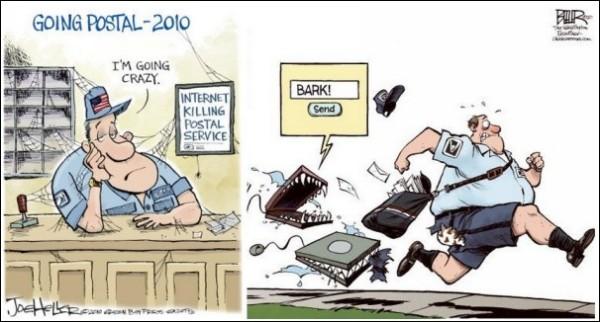 Бумага или «мыло»? Карикатуры на тему почты в век Интернета