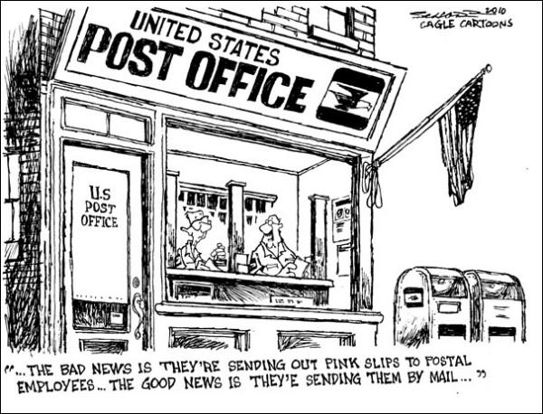 Карикатуры на тему почты в век Интернета: дурные вести отправляют в конверте