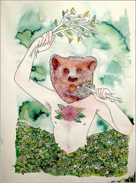 *Звериная мощь*: яркие рисунки Сабрины Скотт