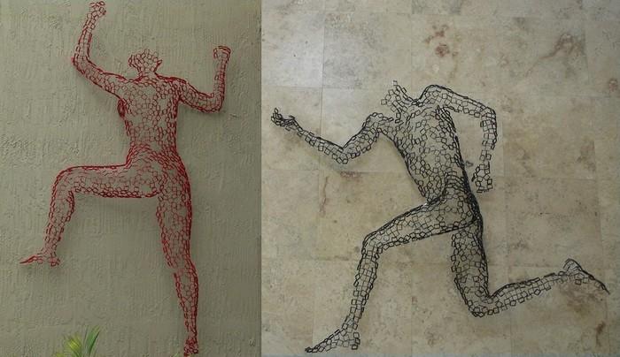 Люди с металлическим каркасом: необычные скульптуры Райнера Лагеманна