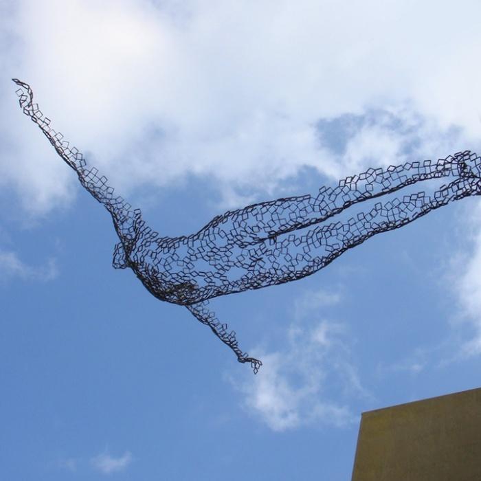 Человек летающий: необычные скульптуры Райнера Лагеманна