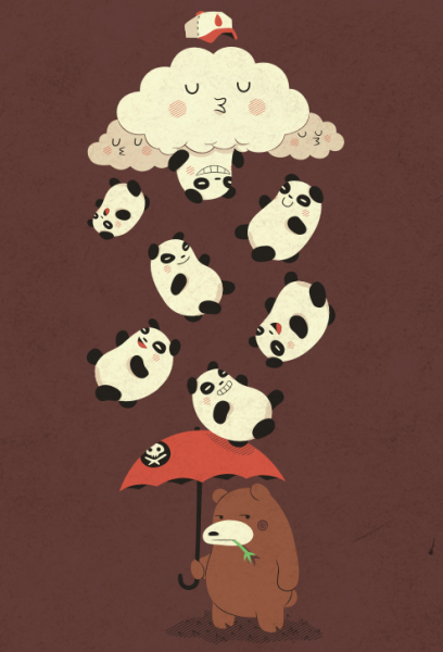 Юмористические рисунки Майкла Биспарулца: *Дождь - отстой*