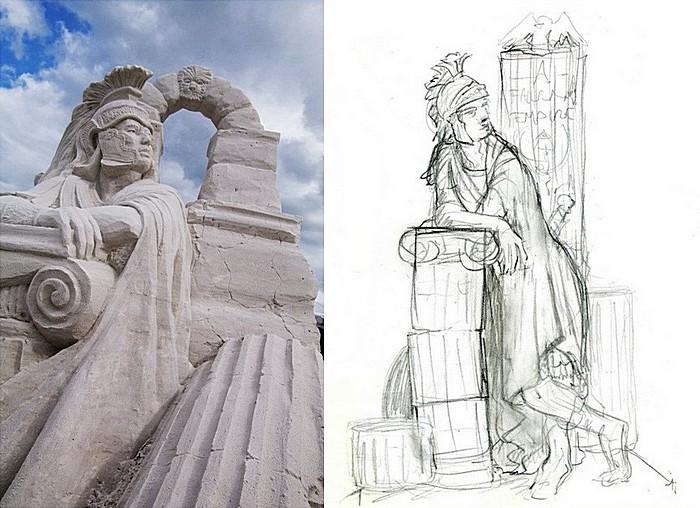 «Павшая империя», 1-е место на фестивале скульптуры из песка