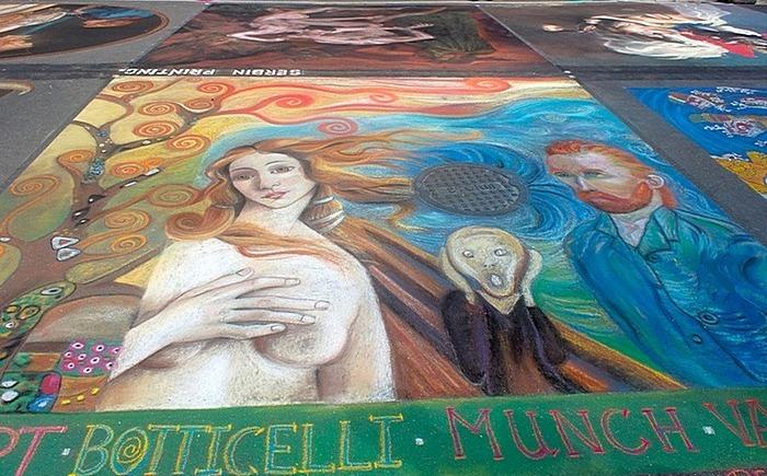 Рисунки мелом - хитрое дело: фестиваль арта на асфальте